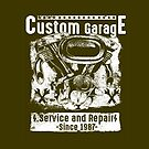 Service and Repair Sign by kj dePace'