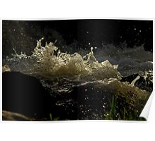 Running Water - Buckley Falls Geelong Poster