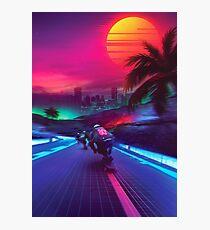 Lámina fotográfica Synthwave Midnight Outrun