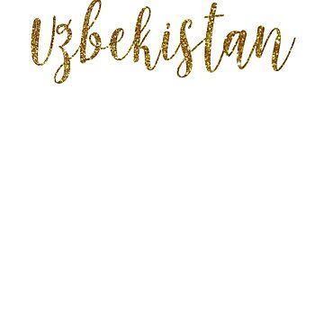 Uzbekistan Gold Uzbekistan by TrevelyanPrints