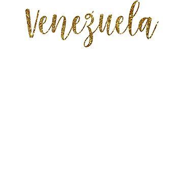 Venezuela Gold Venezuela by TrevelyanPrints