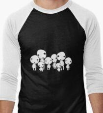 Kodama, tree spirits Men's Baseball ¾ T-Shirt