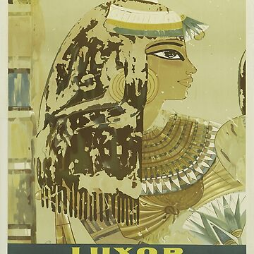 Vintage poster - Luxor, Egypt by mosfunky