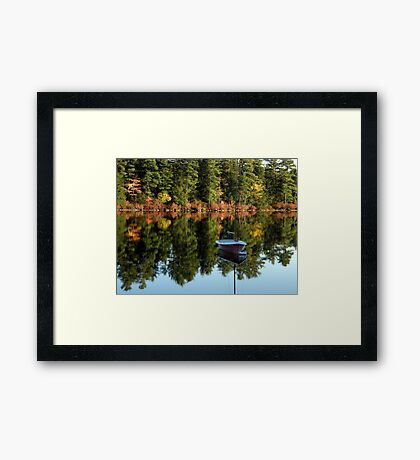 Mooring in the Stillness Framed Print