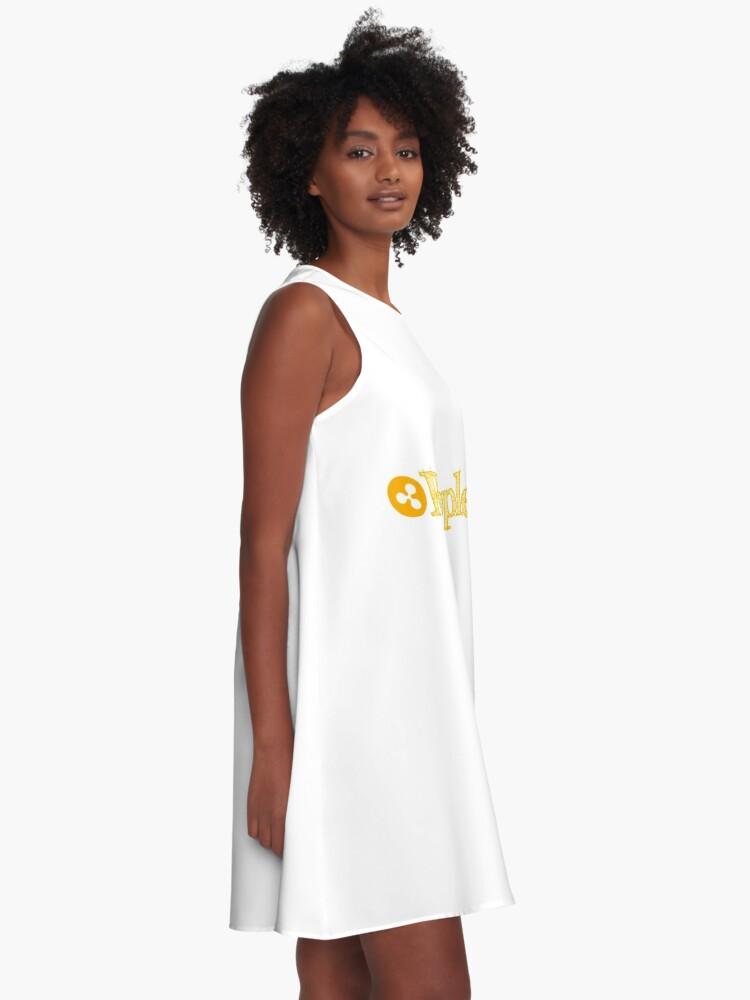 Alternative Ansicht von Welligkeit A-Linien Kleid