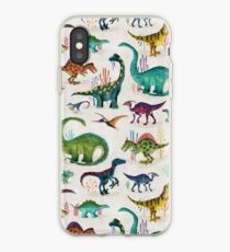 Helle Dinosaurier iPhone-Hülle & Cover