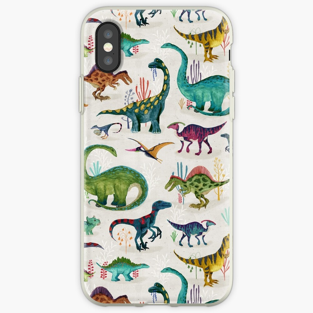 Bright Dinosaurs iPhone Case & Cover