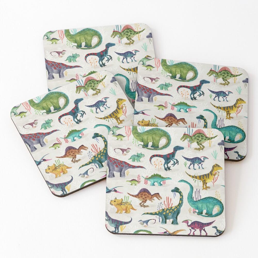 Bright Dinosaurs Coasters (Set of 4)