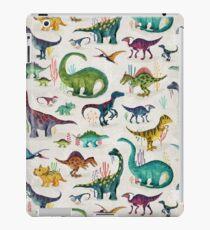 Helle Dinosaurier iPad-Hülle & Klebefolie