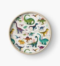 Bright Dinosaurs Clock