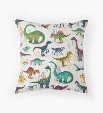Bright Dinosaurs Throw Pillow