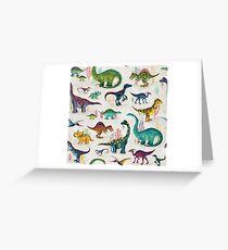 Bright Dinosaurs Greeting Card