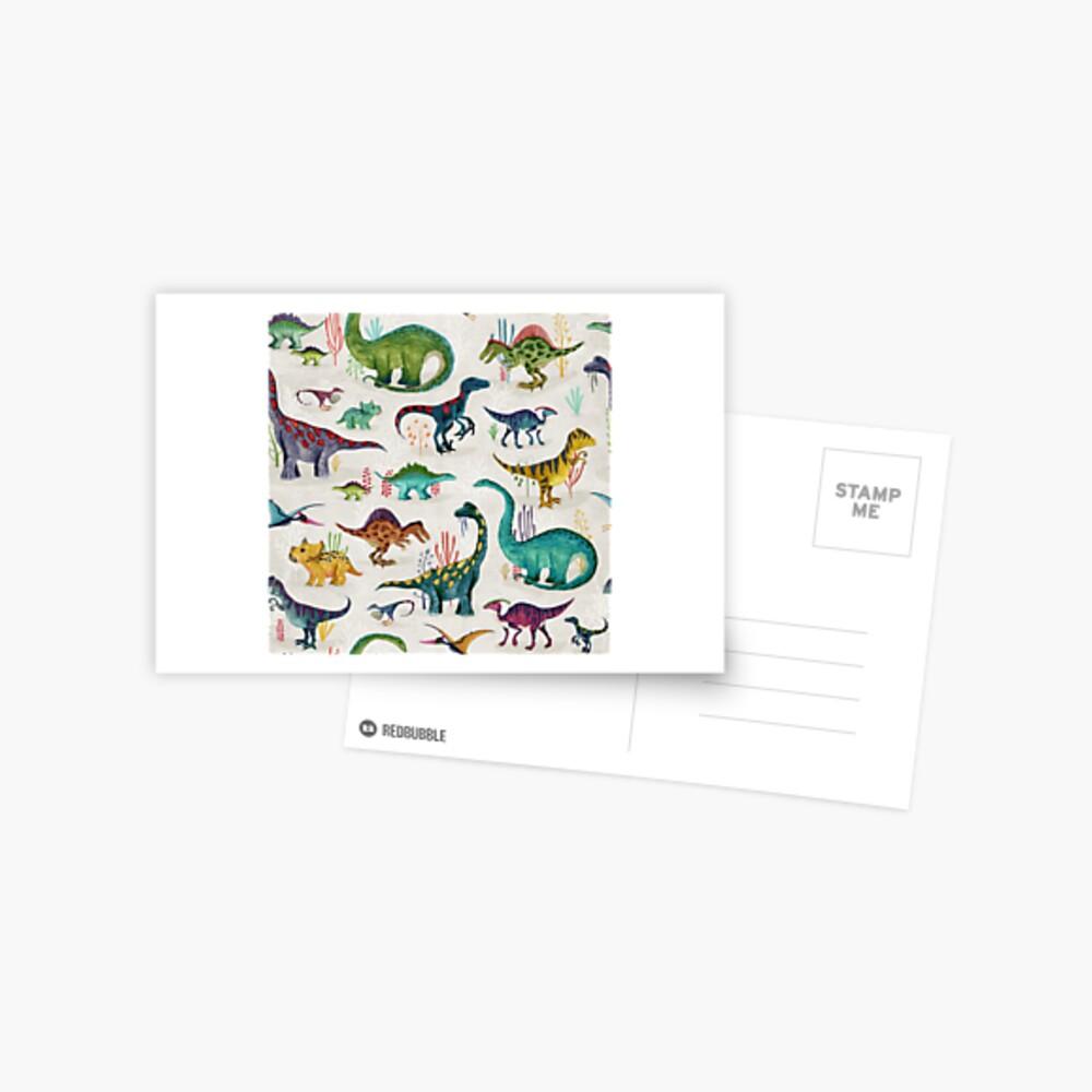 Bright Dinosaurs Postcard
