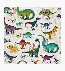 Bright Dinosaurs Photographic Print