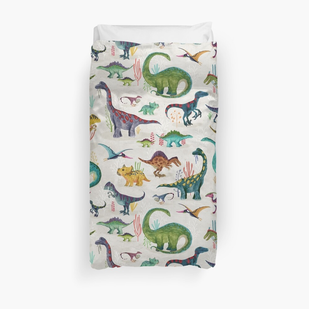 Bright Dinosaurs Duvet Cover