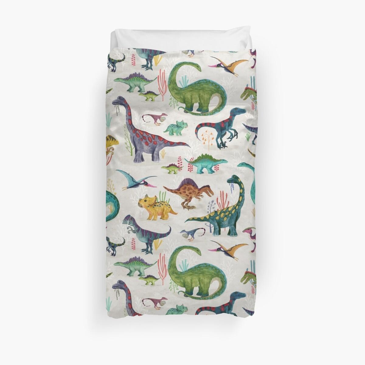 Bright Dinosaurs Duvet Cover