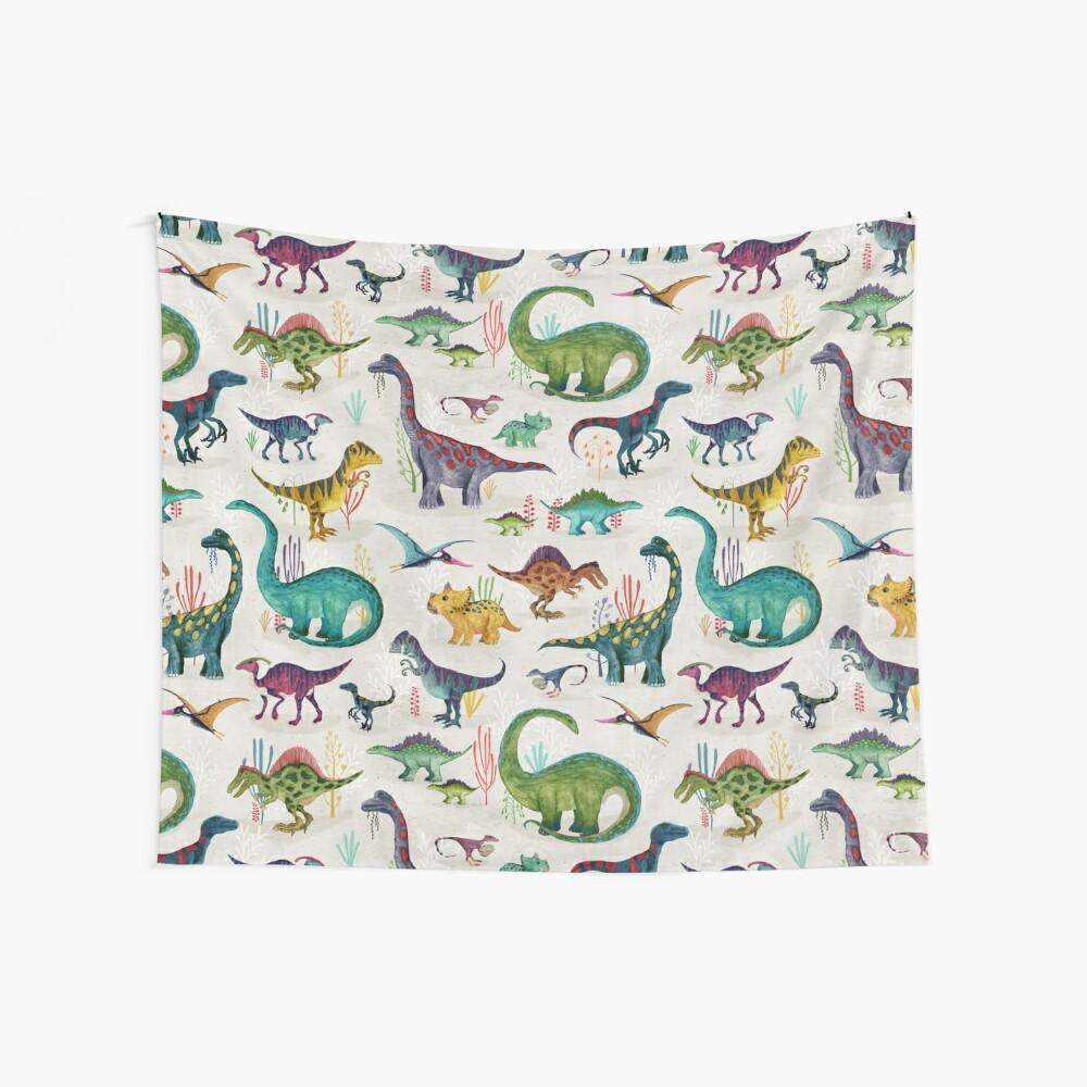 Bright Dinosaurs Wall Tapestry