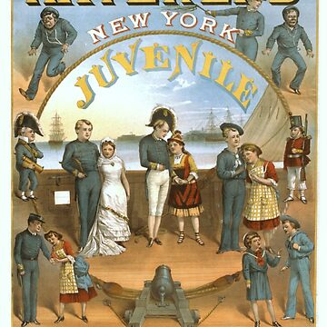 Vintage poster - Haverly's Juvenile Pinafore Company by mosfunky