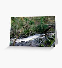 White Water - West Burton Greeting Card