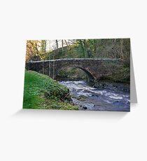 Packhorse Bridge - West Burton Greeting Card