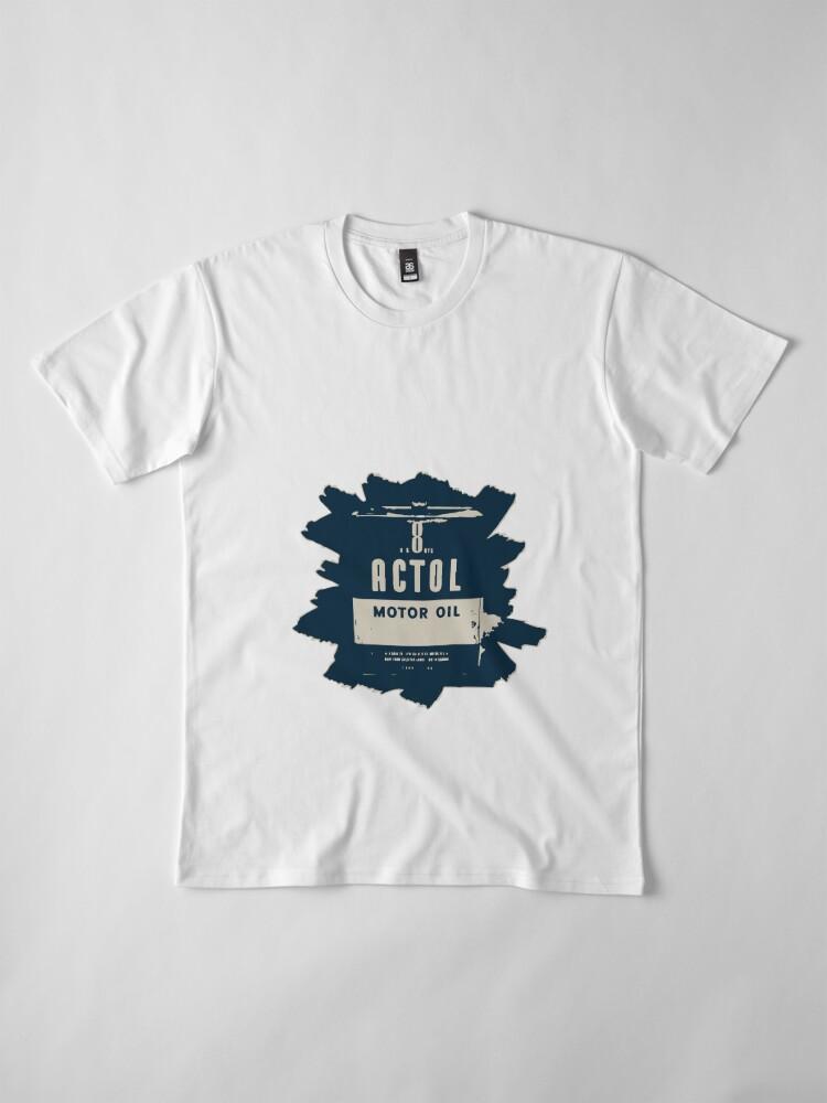 Vista alternativa de Camiseta premium Aceite de motor actol