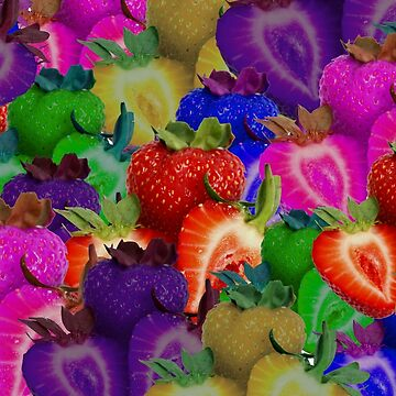 Colorful strawberry mix by franceslewis