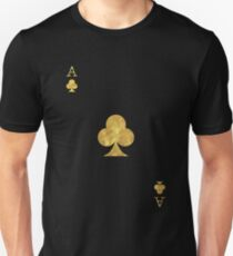Gold Ace Playing Card Unisex T-Shirt
