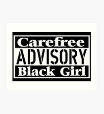 Carefree and Black Art Print