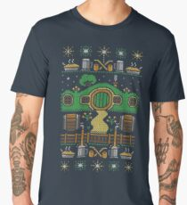 Hobbit house xmas Men's Premium T-Shirt
