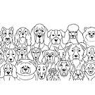 Dog Lover Repeated Pattern by iKiska