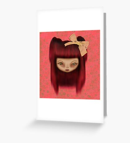 Little Happy Doll Greeting Card