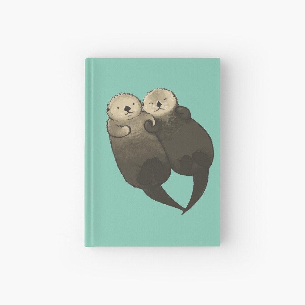 Significant Otters - Otters Holding Hands Hardcover Journal