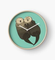 Significant Otters - Otters Holding Hands Clock