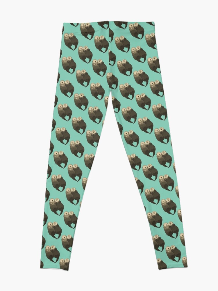 Alternate view of Significant Otters - Otters Holding Hands Leggings