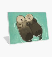 Significant Otters - Otters Holding Hands Laptop Skin