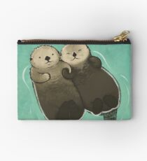 Significant Otters - Otters Holding Hands Studio Pouch