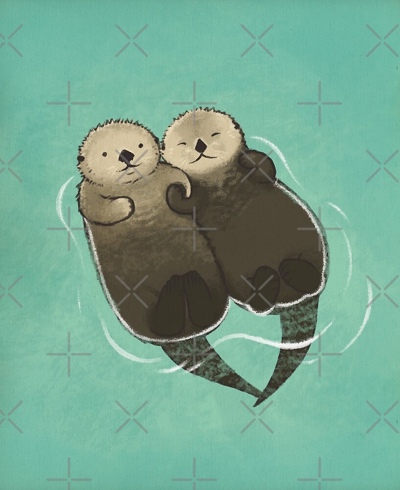 Bedeutende Otter - Otter, die Hände halten von StudioMarimo
