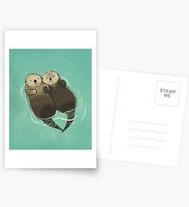 Significant Otters - Otters Holding Hands Postcards