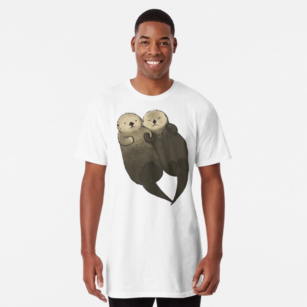 Bedeutende Otter - Otter, die Hände halten Longshirt
