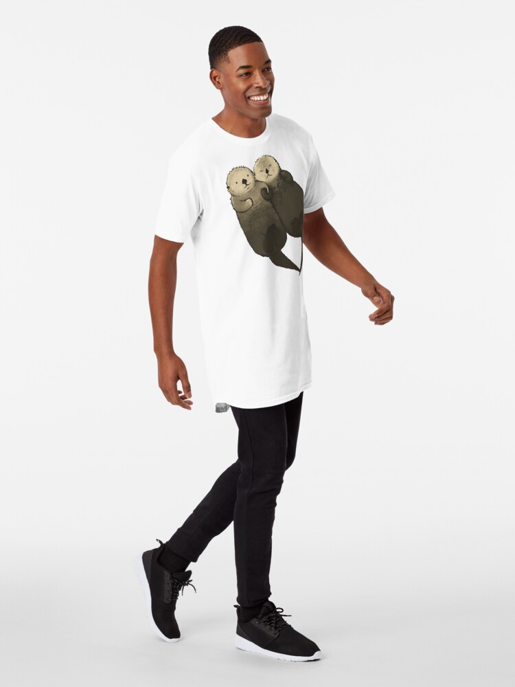 Alternative Ansicht von Bedeutende Otter - Otter, die Hände halten Longshirt