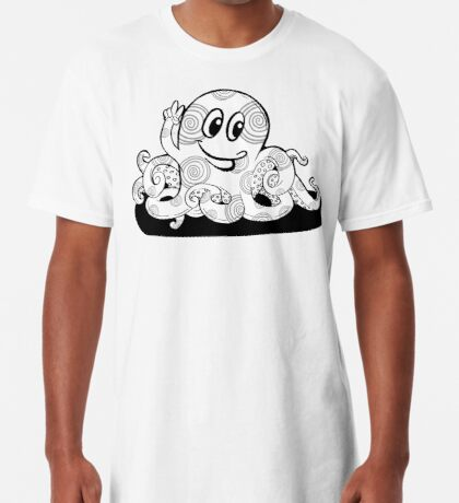 Just Add Colour - Happy Octopus Long T-Shirt