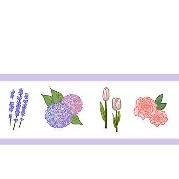 4 Flowers Combo- Lavender, hydrangea, Tulips, Roses by Ivegotartitude