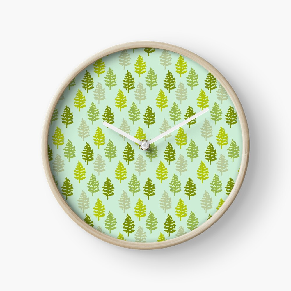 Christmas Trees Clock