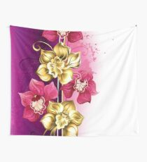 Design with Orchids Wall Tapestry