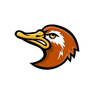 Laysan Duck Head Mascot by patrimonio