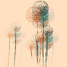 Abstract Summer Flower Trees #2 by Van Nhan Ngo