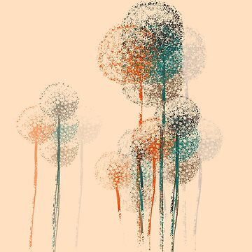 Abstract Summer Flower Trees #2 by enhan