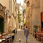 Walking the Dog in Montmartre Paris France by Buckwhite