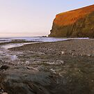 Cornwall: Orange Glow at Crackington Haven by Rob Parsons