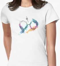 Glasses and Scar Women's Fitted T-Shirt